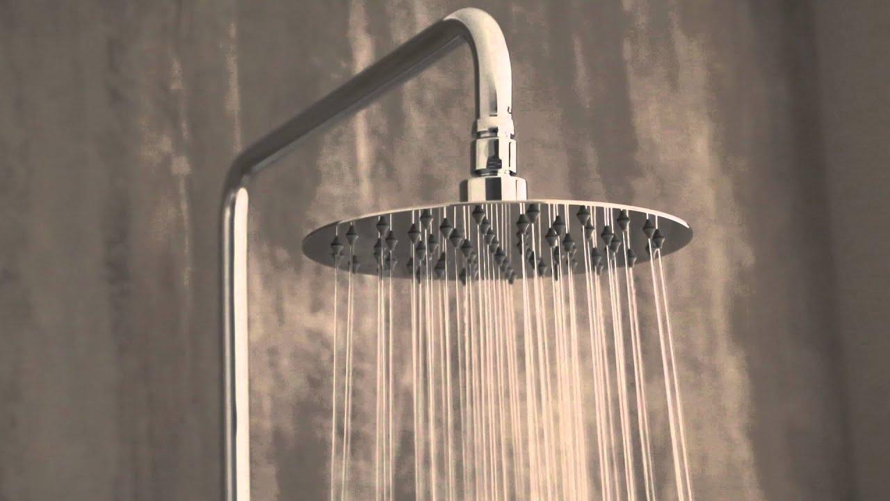 Colonna doccia in ottone cromato completa con miscelatore