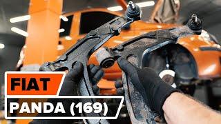 Hoe een voorste draagarm vervangen op een FIAT PANDA (169) [HANDLEIDING AUTODOC]