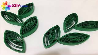 quilling leaves with swekers