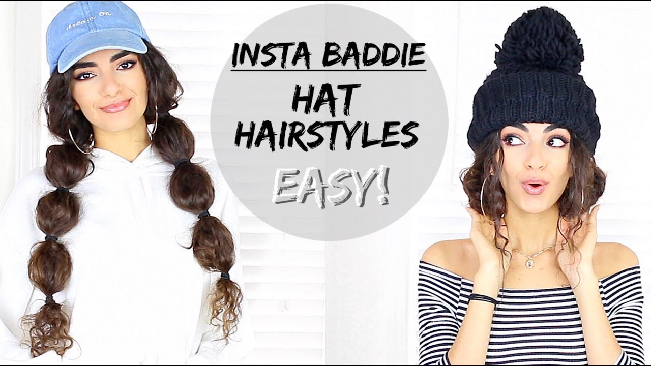 20b6801a6b1 EASY Hairstyles with Hats   Beanies! - YouTube