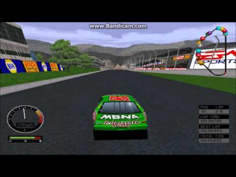 NASCAR Road Racing (PC) Gameplay (Bobby Labonte) (Bridgeport Speedway) (5 Laps)