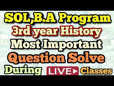 SOL. B.A program-III year History(Issues in world history: the 20th century) important Question