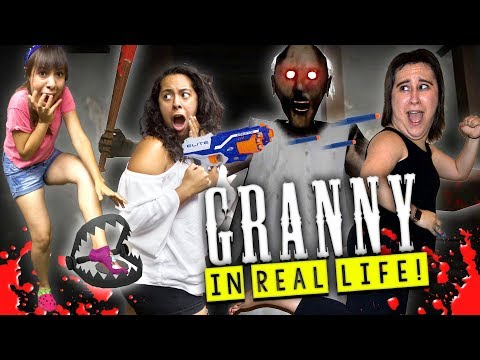 Granny Horror Game in Real Life with BEAR TRAPS and TRANQUILIZER!