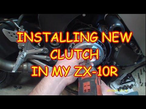Changing the clutch on my Kawasaki 2005 ZX10R Ninja