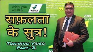 सफ़लता के सुत्र Tarining Part-2 || Vestige Training || Network Business