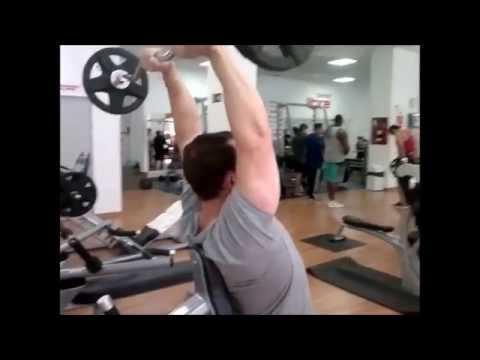 ejercicios soldier triceps scam barra z