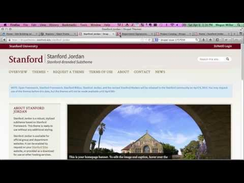 Site Building with Stanford's Themes