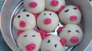 ซาลาเปาหมูน้อย steamed bun แป้งนุ่ม ไส้แน่น สูตรนวดมือ สูตรอาหารทำขายได้ | new new eat food