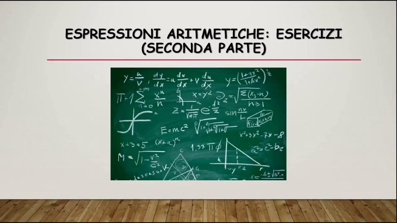 Matematica Espressioni Aritmetiche Esercizi Parte 2 Youtube