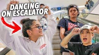 AWKWARD DANCING ON ESCALATOR PRANK!! | Ranz and Niana