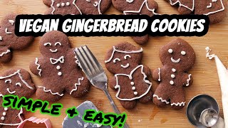 VEGAN GINGERBREAD COOKIES  Recipe by Mary&#39s Test Kitchen