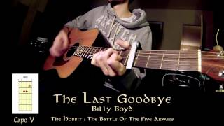 The Last Goodbye - Guitar Lesson (The Hobbit ~ Billy Boyd)