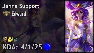 Janna Support vs Alistar - Edward - EUW Challenger Patch 6.22