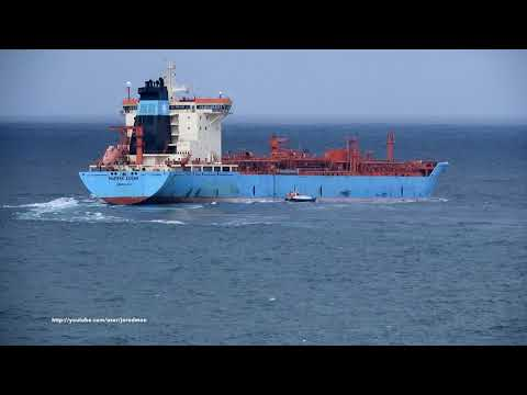 Tanker ship MAERSK EDGAR leaving A Coruña