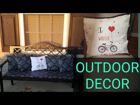 How To Make Outdoor Pillows Using Dollar Tree Items|May|Mrs Vee
