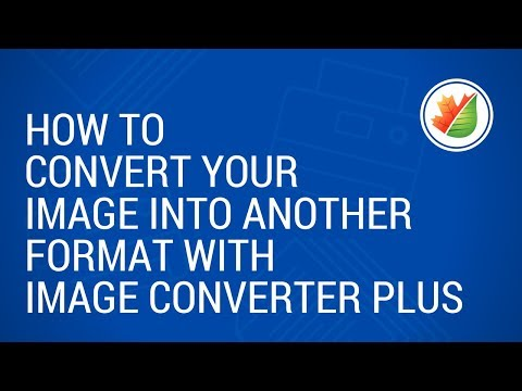 How to define image format for conversion in ImageConverter Plus