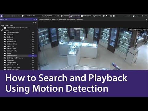 How to Search and Playback Video with Motion Detection