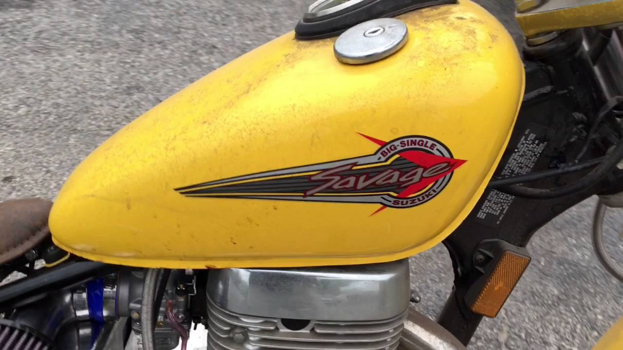 96 suzuki savage ls650 bobber - youtube