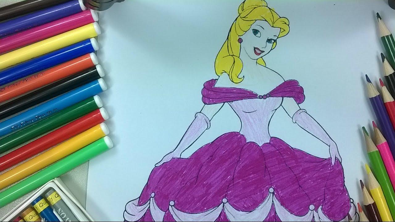 Coloriage De Princesse En Couleur.Enfants De Couleur 9 Coloriage Princesse Mignonne La Chaine Pour