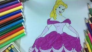 enfants de couleur 9 - Coloriage princesse mignonne - La chaîne pour enfants
