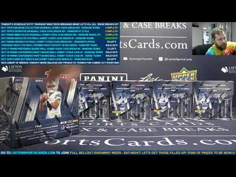 2017 Panini Absolute Football Hobby 10 Box Case Break #7 – RANDOM TEAMS