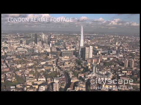 ‪London Aerial Footage - Looking north to The Shard, London, UK (HD)‬