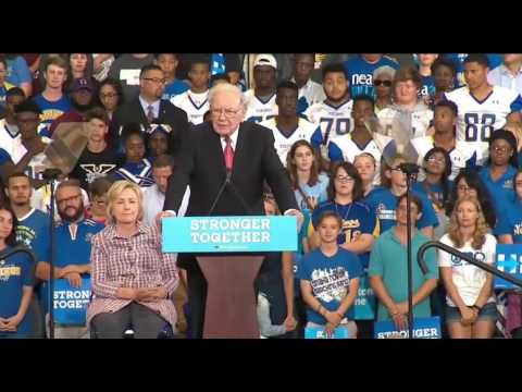 Warren Buffett Endorses Hillary Clinton in Omaha FULL Speech 8/1/16