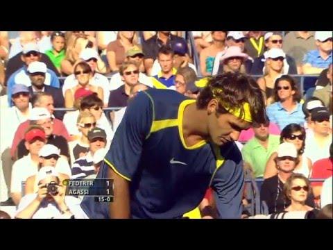 2005 US Open Federer Vs. Agassi(HD)-60FPS