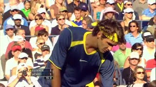 2005 US Open Federer vs. Agassi(HD)-60FPS