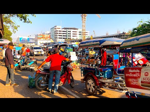 THIS IS VIENTIANE LAOS - THE CAPITAL CITY OF LAOS | The Hustle & Bustle Of Downtown Vientiane, Laos
