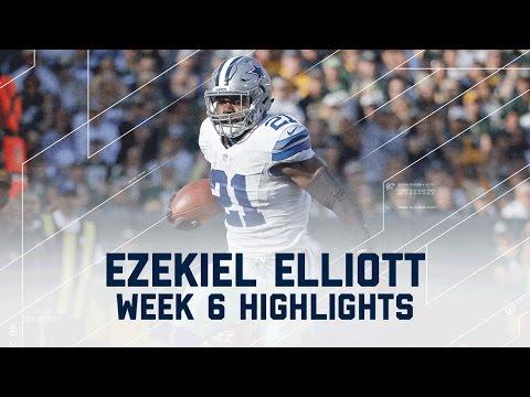 Ezekiel Elliott Powers to 157 Rushing Yards | Packers vs. Cowboys | NFL Week 6 Player Highlights