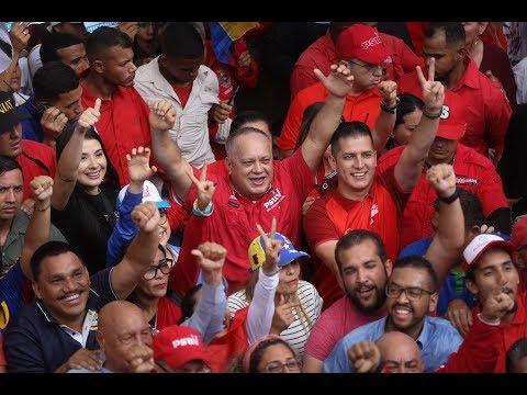 Diosdado Cabello en tarima de Marcha por la Unidad Latinoamericana, 24 octubre 2019