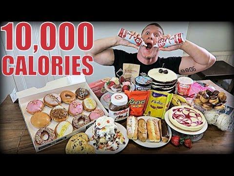 10,000 CALORIE DESSERT CHALLENGE | Epic Cheat Day | Man vs Food