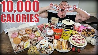 10,000 CALORIE DESSERT CHALLENGE | Epic Cheat Day | Man vs Food