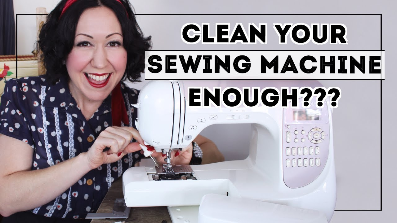 SEWING MACHINE MAINTENANCE // What you can DIY to properly clean & de-fluff your sewing machine!