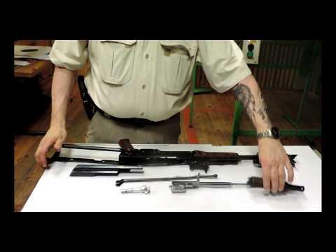 Rozkładanie karabinka AKMS Kałasznikow. AKMS Kalashnikov assault rifle disassembly.
