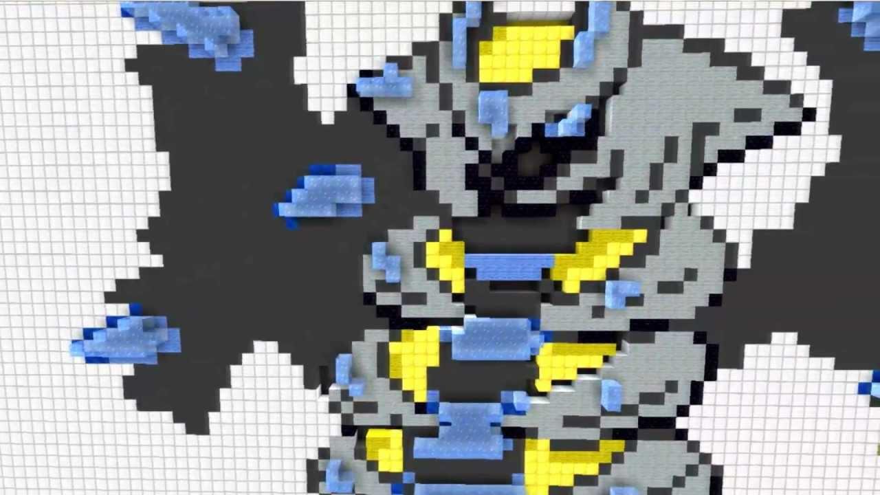 how to draw arceus pixel art