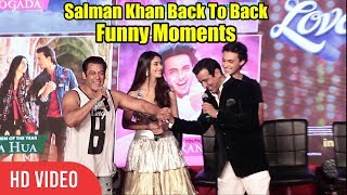Salman Khan Loveyatri Back To Back Funny Moments | Loveyatri Music Concert