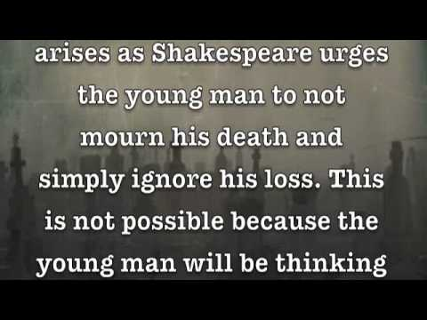 shakespeare sonnet 71 analysis