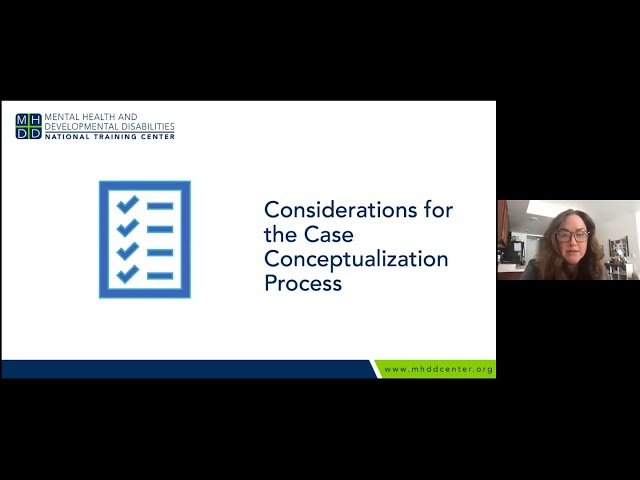 MHDD Continuing Ed Series: Case Conceptualization for Clients with IDD: The utility of the BPS Model