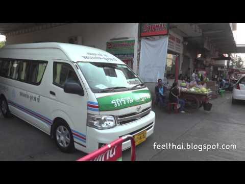 รถคู้อุดรขอนแก่น เพชรทวีแอร์ สถานีบขส. อุดร Udon-KhonKaen minivan