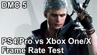 Devil May Cry 5 PS4 vs PS4 Pro vs Xbox One vs Xbox One X Frame Rate Comparison