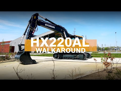 Walk Around The HX220AL With Us | Hyundai Construction Equipment