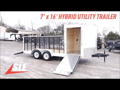 Enclosed Hybrid Utility Trailer 7'x16' Walkthrough
