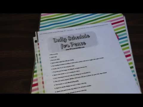 Daily Schedule for Peace Printable & HomeMaking Binder Tour