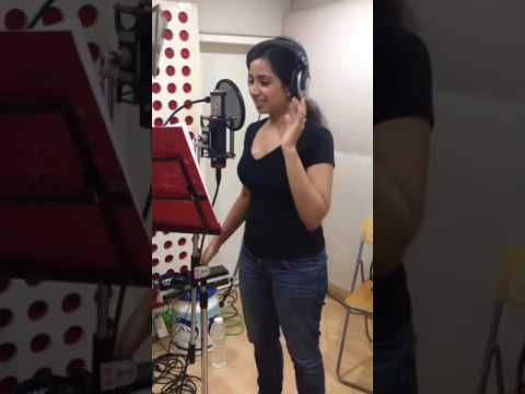 Shreya Ghoshal song recording