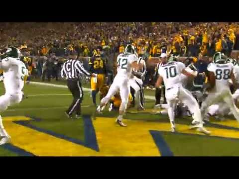 Michigan State at Michigan 2015 - Final Play - Sideline Angle