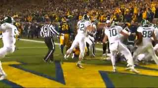 Michigan State at Michigan 2015 - Final Play - Sideline Angle