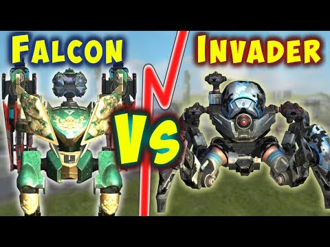 FALCON VS INVADER - NEW Best Tanks Compared War Robots Mk2 Gameplay WR