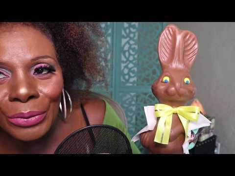 MILK Chocolate Bunny ASMR Eating Sounds/Parsnip Pete